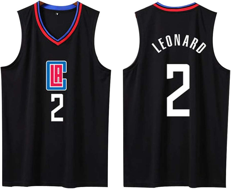SUXT Herren-Basketballtrikot   2 Los Angeles Clippers Kawhi Leonard Professionelle Basketballuniform, zweiteiliges Basketball-Performance-Tanktop und Shorts-Set