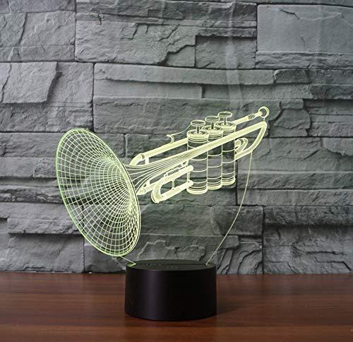 Musikinstrument Trompete 3D Nachtlicht LED Tischlampe Geschenk Dekoration Lampe