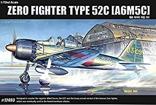 Academy 12493 Zero Fighter Type 52C A6M5C 1/72 FA157 Plastic Model Kit NEW /item# G4W8B-48Q63334