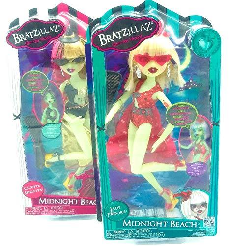 Dolls Midnight Beach Party Set bestehend aus 2 Puppen, Jade J'Adore & Cloetta Spelletta