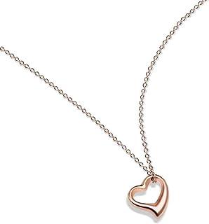 Collar Personalidad Collar de corazón de durazno vacío Amor salvaje Cadena de clavícula Accesorios de regalo creativos Día de San Valentín Día de la madre Cumpleaños para mujeres Hombres Niños Niñas
