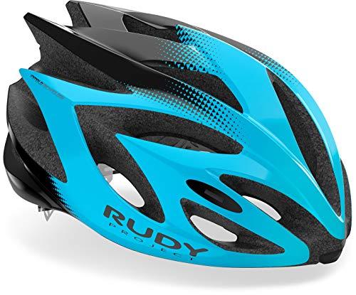 Rudy Project Rush Helm Azur Black Shiny Kopfumfang S | 51-55cm 2021 Fahrradhelm