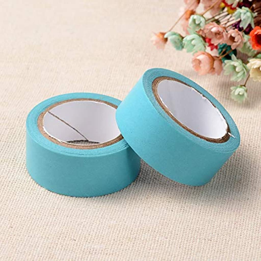 Aqua Baby Blue Washi Craft Decorative Masking Scrapbook Tape Roll Set for Crafts, DIY (15mm)