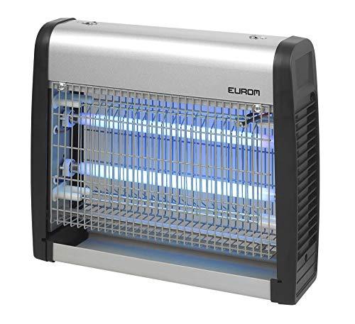 Eurom Elektrischer Insektenvernichter, Insektenkiller Moskito Killer, Fliegenkiller Leistungsstarke 2200V Grid 2X 8-Watt-UV-Lampen für 75 – 100 m²+ Gratis fiduciaShop Thermometer