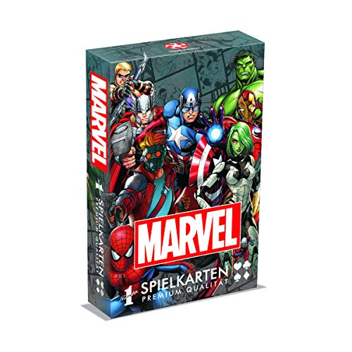 Winning Moves GmbH WIN30638 Number 1 Spielkarten - Marvel Universe Avangers Iron Man Kartenspiele