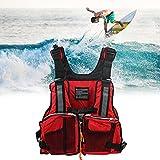 Eeneme Chaleco Salvavidas y Vida Chaquetas Adultos Ajustable Kayak Bote Vela Flotabilidad Ayuda Chaqueta para Hombres,Chaleco de Flotabilidad con Silbato y Tiras Reflectantes