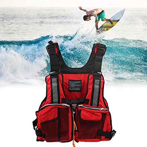 BSTEle Chaleco Salvavidas para Adultos Chalecos Salvavidas Ajustables Canoa Kayak Vela Ligera Chaqueta de Ayuda a la flotabilidad con múltiples Bolsillos para Hombres/Mujeres