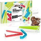 com-four® 26x Clips de Cierre XL de plástico - Clips de Cierre en Diferentes tamaños y Colores - Clip de Bolsa congeladora para Copos de maíz, nueces o café (26 Piezas - 11 cm/14 cm)