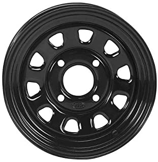 """ITP Delta Steel Black Wheel with Machined Finish (12x7""""/4x156mm)"""