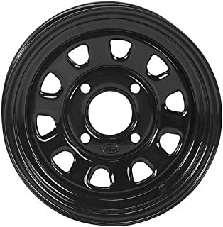 ITP Delta Steel Black Wheel with Machined Finish (12x7