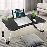 Laptop Desk for Bed, Foldable Laptop Table, Portable Laptop Bed Tray Table with Foldable Legs, 2021 Upgraded Lap Desk for Eating, Working, Writing, Gaming, Drawing on Couch/Sofa/Bed/Floor