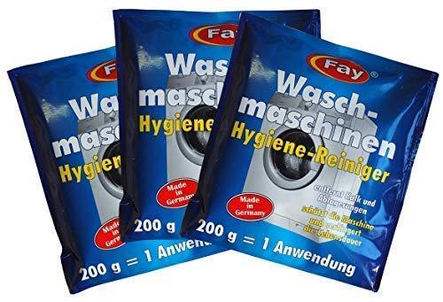 6 x Fay Waschmaschinen Hygiene-Reiniger 200g, Waschmaschinen-Pflege, Entkalker
