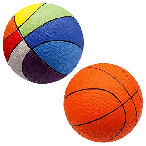 Sport-Thieme PU-Schaumstoffball Basketball | Sehr gut Springender Softball | Orange o. Bunt | Durchmesser 200 mm | 290-300 g | Schaumstoff mit PU-Beschichtung | Markenqualität