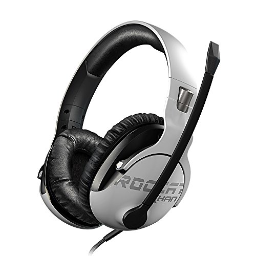 ROCCAT Khan Pro - Hi-Res Esports Gaming Headset (Stereo 3,5 mm, Superleichte 230 g, Multiplattform Kopfhörer für PC/Mac/Playstation 4/Xbox One/Nintendo Switch/Android/iOS/VR) weiß