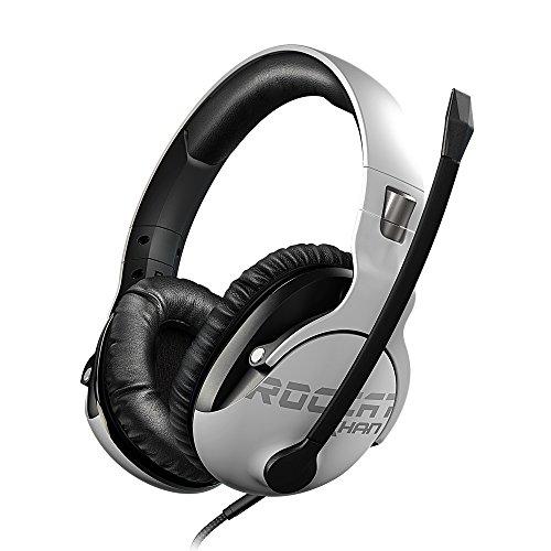 ROCCAT Khan Pro – Auriculares Gaming, Audio Hi-Res, dedicado a competiciones de Esport (Conector Jack estéreo 3,5mm, Peso Ligero 230g, para PC/Mac/PS4/Xbox One/Nintendo Switch/y móviles), Blanco