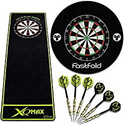 TW24 dart set black dart board incl. 6 darts darts dart mat surround complete set dart carpet dart set steel darts game