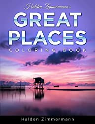 great places coloring book