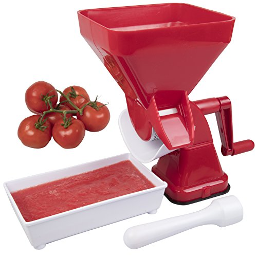 CucinaPro Tomato Strainer - Easily Juices, No Peeling, Deseeding, or Coring Necessary