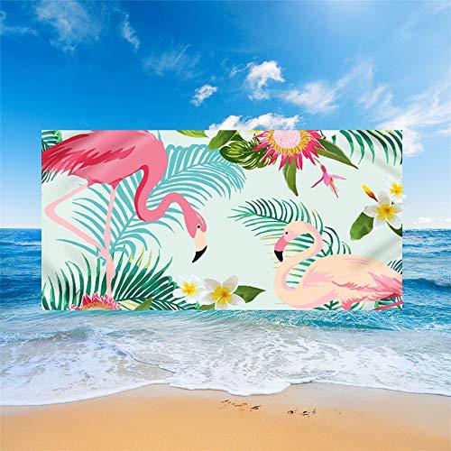 Meiju Telo Mare Grande Asciugamano da Spiaggia in Microfibra, Portatile Leggero Rettangolo Yoga Mat Telo da Mare per Sport Palestra Estivo Beach Stile Nordico (150 * 180cm,H)