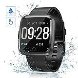 Smartwatch,Reloj Inteligente Impermeable IP67 Pulsera Actividad con Pulsómetro Podómetro Calorie Monitoreo del sueño Relojes Inteligentes para Hombre Mujer Android iOS