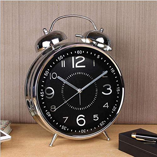 Creative Bedside Klok Ringtones grote schattige wekker grote 8 inch 4 inch creatieve thuis retro nostalgisch metalen mechanische klok woonkamer klok klok