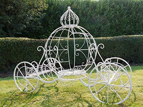 Noir Country en métal Fonctionne Cendrillon Carrosse Sculpture de Jardin et Pot de Fleurs