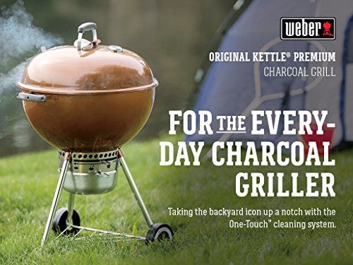 Weber 14402001 Original Kettle Premium Charcoal Grill, 22-Inch, Copper Outdoor Cooking