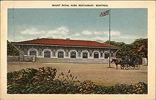 Mount Royal Park Restaurant Montreal, Quebec Canada Original Vintage Postcard