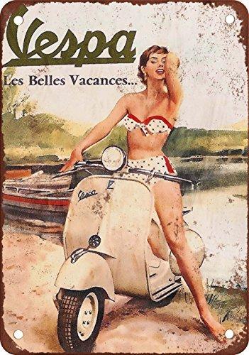 Vespa Roller Vintage Look Reproduktion Metall blechschild 30,5x 45,7cm