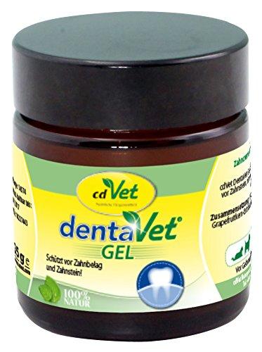 cdVet DentaVet Gel – natürliche Zahncreme zur Zahnreinigung, Zahnsteinentfernung und Mundhygiene von Hunden und Katzen