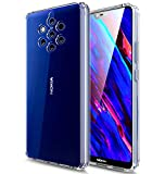 Huness Nokia 9 PureView Case TPU Grip Bumper and Clear