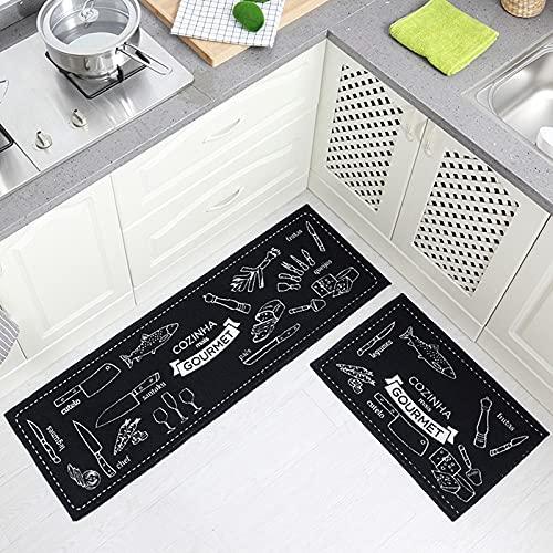 HLXX Alfombrilla de Cocina Juego de alfombras Alfombras de Cocina Alfombrilla Multiusos Dormitorio Zona de sofá Baño Alfombrilla Antideslizante A7 40x120cm