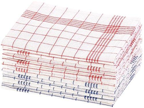 Rosenstein & Söhne Geschirrhandtücher: 12er-Set Halb-Leinen-Geschirrtücher, 70x50 cm, OEKO-TEX® Standard 100 (Leinengeschirrtücher)
