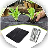 XUEXUE Weed Barrier Fabric, Weed Membrane Permeate Water with 100 Securing Pegs Heavy Duty Ground Cover Weed Membrane, for Garden Flower Beds (Color : Black, Size : 2X15M)