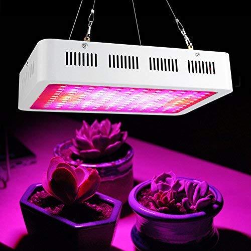 gototop 120LED lámpara de crecimiento para plantas AC85–265V 1200W Panel espectro completo lámpara Horticole falsas para plantas, flores, verduras interior
