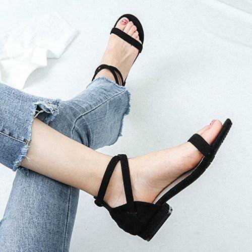 YMFIE Summer Fashion Ladies Occasionnels Orteil Fond Plat Sandales Sangle Croix
