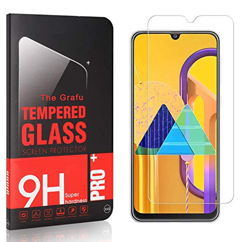The Grafu Screen Protector for Galaxy M30S, Ultra Clear, 9H Tempered Glass Screen Protector Compatible with Samsung Galaxy M30S, Easy Installation, 4 Pack