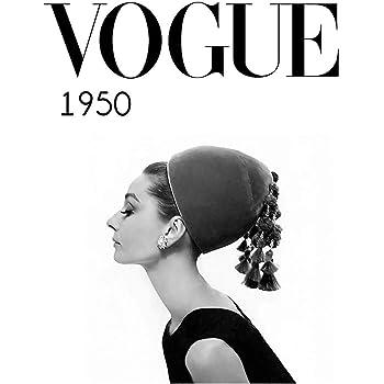 Póster de Eliteprint Vogue 1950 Classic Vintage Retro Fashion en 250 g/m²: Amazon.es: Hogar