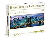 Clementoni - Puzzle de 1000 Piezas, Panorama, diseño New York: Brooklyn Bridge (392094)