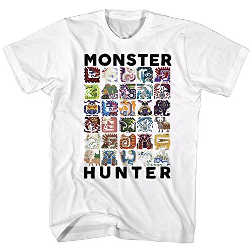 American Classics Monster Hunter Collage Let's Hunt Video Game Adult T-Shirt White