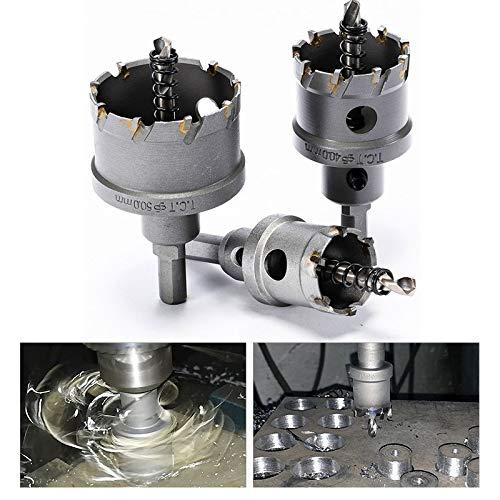 GENFALIN Un agujero de alineación cuchilla 16-100mm K10 carburo de cortador de acero de alta velocidad de la hoja de acero de aleación de acero taladro sierra TCT Set (Hole Diameter : 90mm)