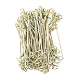 Palos de bambú desechables 300 unids que se nudan las selecciones de alimentos de fruta de bambú de cocktail de bambú Picks Party Folleties Favors For Home Bar (Color : Cyan)