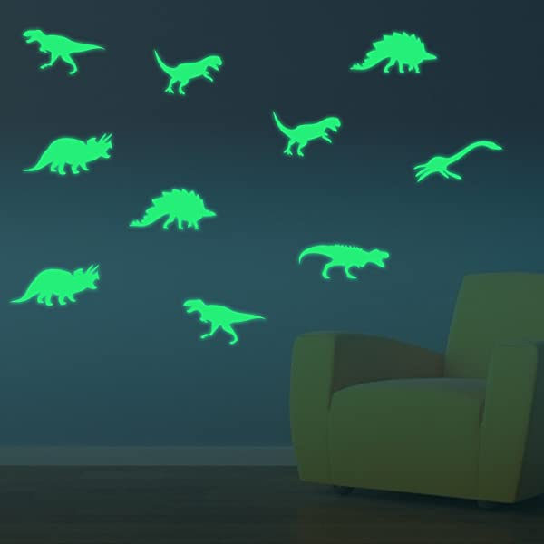 Glow In The Dark Wall Stickers Decal Fluorescent Wall Stickers For Living Room Bedrooom Kids Room Decoration Animal Patterns Dinosaur