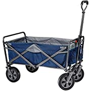 Mac Sports Collapsible Folding Outdoor Utility Wagon, Blue w/Grey Inside - 1 Size