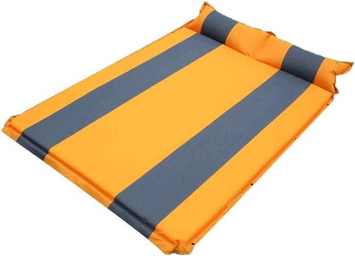 XULO Camping en Plein Air Air Lit Voiture Autogonflant Mat avec Couchage Coussin Gonflable étanche à L'humidité Matelas Compact Confortable Intégrééponge Tente Voyage Double Personnes,Orange