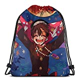 Jibaku Shonen Hanako-Kun Drstring Zaino Palestra Sack Pack Solid Cinch Pack Sinch Sack Sport String Bag con tasca