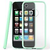 MoEx Coque Mate Transparente Compatible iPhone 3GS / iPhone 3G | Bords surélevés Contrastants, Vert Menthe