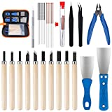 KEESIN 31 piezas accesorios de impresora 3D Kit de herramientas, agujas de limpieza, pinzas, alicates, cortador de limpieza, cincel, con caja de almacenamiento para quitar impresión 3D, limpiar