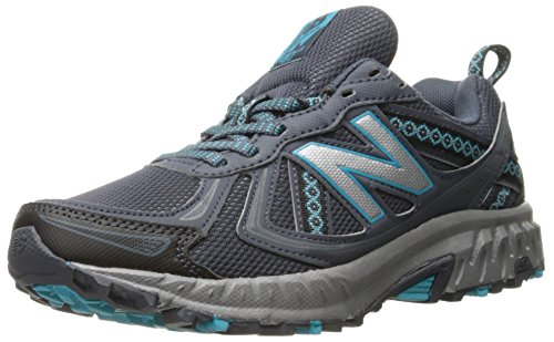 New Balance Women's 410 V5 Trail Running Shoe, Grey/Vivid Ozone, 10 W US