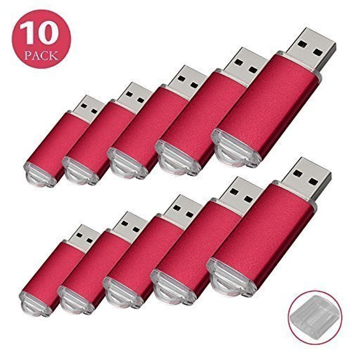 RAOYI 10Pack 32GB USB Flash Drive USB2.0 Memory Stick Thumb Drive Pen Drive Jump Drive, Red